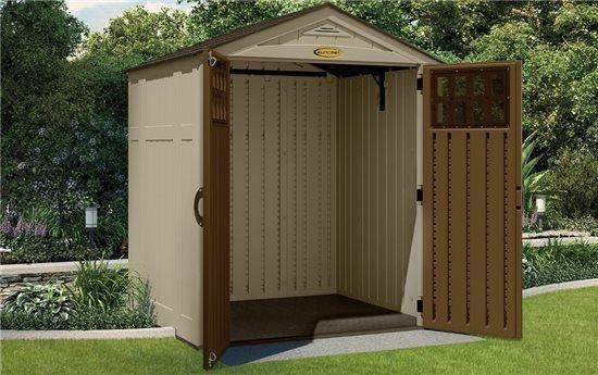 Suncast Adlington Five Plastic Storage Shed Garden Sheds